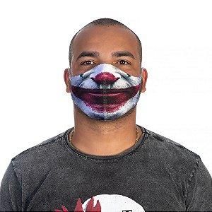 Mascara Proteção Masculino Em Tecido Lavável Neoprene Boca Joker Use Thuco