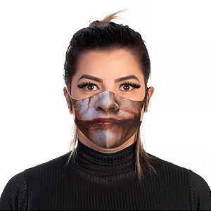 Mascara Proteção Feminina Em Tecido Lavável Neoprene Sorriso Joker Use Thuco