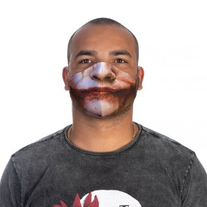 Mascara Proteção Masculino Em Tecido Lavável Neoprene Sorriso Joker Use Thuco