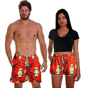 Kit Shorts Casal Masculino e Feminino La Casa de Papel Use Thuco