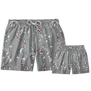Kit Shorts Pai e Filho Pernalonga Use Thuco