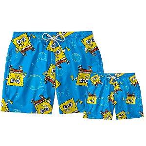 Kit Shorts Pai e Filho Bob Esponja Use Thuco
