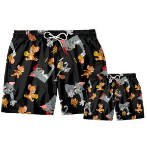 Kit Shorts Pai e Filho Tom e Jerry Use Thuco