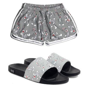 Kit Short e Chinelo Feminino Pernalonga Use Thuco