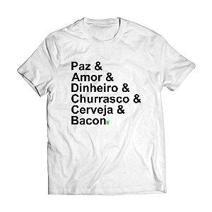 Camiseta Masculina Personalizada Paz Amor e Cerveja Use Thuco