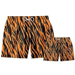 Kit Shorts Pai e Filho Tigre Use Thuco.