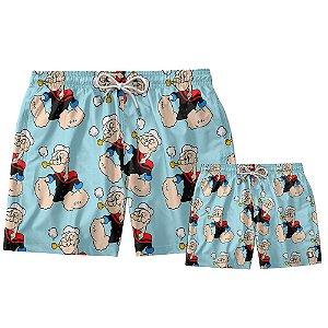 Kit Shorts Pai e Filho Popeye Use Thuco.