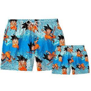 Kit Shorts Pai e Filho Son Goku Use Thuco.