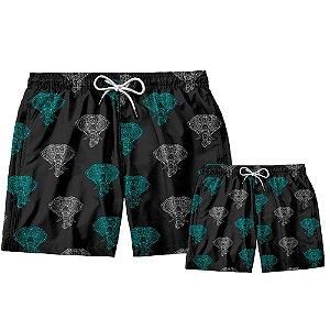 Kit Shorts Pai e Filho Elefante Use Thuco