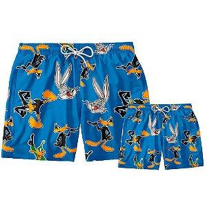 Kit Shorts Pai e Filho Pernalonga e Patolino Use Thuco