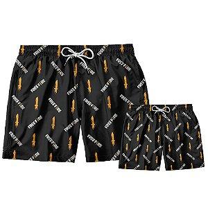 Kit Shorts Pai e Filho Free Fire Use Thuco