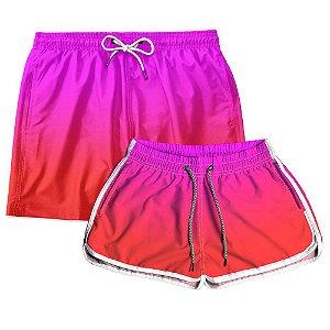 Kit Shorts Casal Masculino e Feminino Hotbaby Coleção Festas