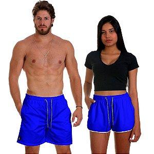 Kit Casal Dois Shorts de Praia Masculino e Feminino Azul Use Thuco