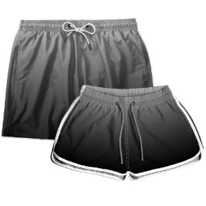 Kit Shorts Casal Masculino e Feminino Preto Degrade Use Thuco