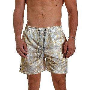 Short Masculino Branco Réveillon Florido Gold