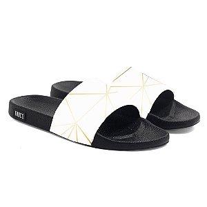 Chinelo Slide Use Thuco Branco Réveillon Gold