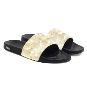 Chinelo Slide Use Thuco Branco Réveillon Florido Gold