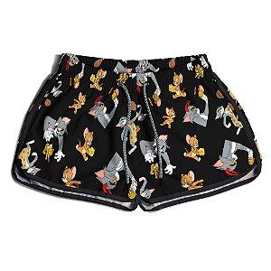 Short Feminino Tom e Jerry
