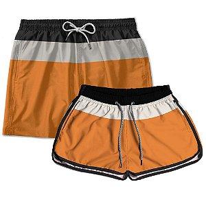 Kit Casal Short Praia Use Thuco Young Orange