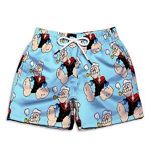 Short Praia Infantil UseThuco O Marinheiro Popeye