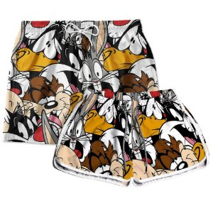 Kit Casal Short Praia Looney Tunes Use Thuco