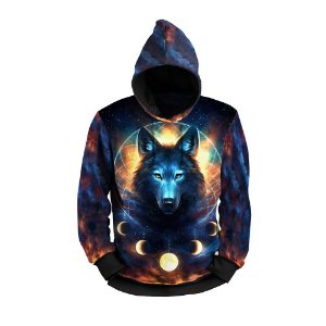 Moletom Full Print Use Thuco Lobo Universo