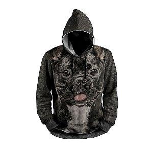 Moletom Bulldog Françês Cachorro Use Thuco Preto