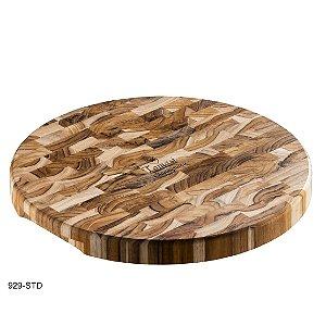 Tábua Redonda Multiuso Tomasi - Teca Invertida - 35,5cm x 3,2cm