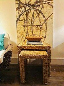 Conjunto de Mesas Ninho em Taboa