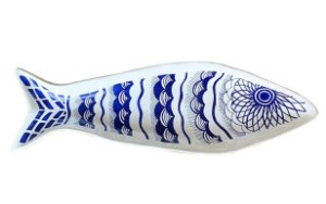 Prato decorativo peixe I