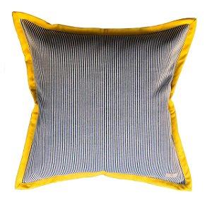 Capa de Almofada listradinha aba amarela