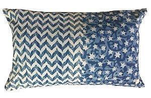 Capa de Almofada Azul Estrelinhas V 35 x 55cm