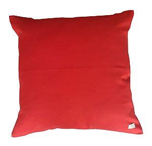 Capa de Almofada Lisa Vermelha 50 x 50cm