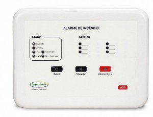 Central de Alarme de Incêndio Convencional 12V 6 setores Segurimax