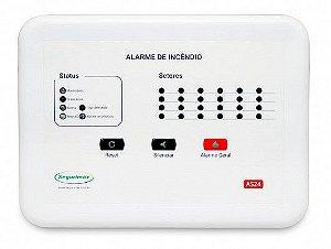 Central de Alarme de Incêndio Convencional 12V 24 setores Segurimax