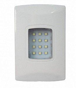 Iluminação de emergência autônoma LED 100 Lumens de embutir Segurimax