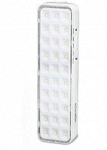 Iluminação Emergência autônoma 30 Leds Lítio Slim Segurimax