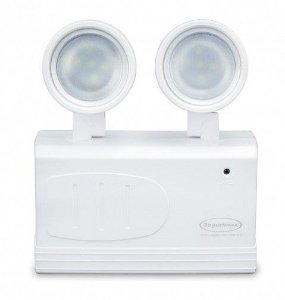 Iluminação emergência LED 200 lumens 2 Faróis Segurimax