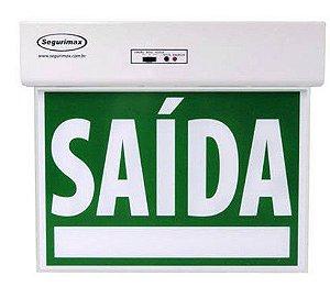 Sinalização Saída de Emergência Standard Face Única Verde Seletor e Adesivos Segurimax