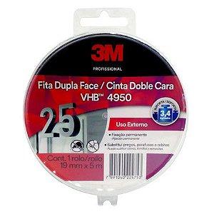Fita Dupla Face 3M Uso Externo  - 19mm x 5m Estojo