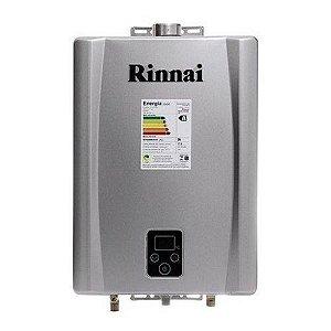 Aquecedor de água a gás Rinnai REU E170 FEHG - Cor Prata - Exaustão Forçada - Gás Natural - Vazão 17L