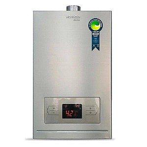 Aquecedor a de água a gás Komeco KO 20D I - Digital - Inox - Exaustão Forçada - Gás Natural - Vazão 20,5L