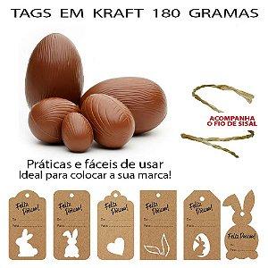 Tags para Páscoa Personalizada em Kraft ou Color Plus