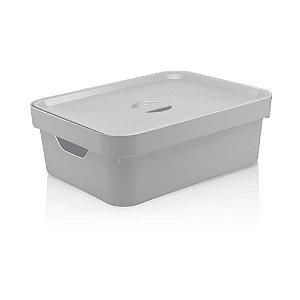 Caixa Cube Média Com Tampa 10,5L Branco - Ou
