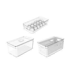 Kit Organizador Clear Fresh 3 Peças - Ou
