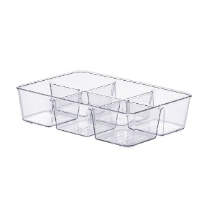 Organizador Diamond Com Divisórias Cristal Extra Pequeno