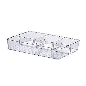Organizador Diamond Com Divisórias Cristal Pequeno