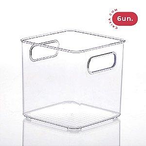 Organizador Diamond Quadrado Cristal - Pequeno - 06 Unidades