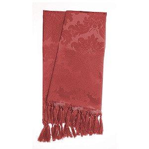 Manta para sofá em Tecido Jacquard Vermelho Medalhão