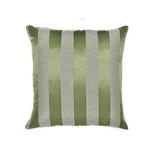 Capa para Almofada em Tecido Jacquard Verde Pistache Listrado